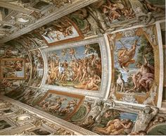 Fresco: A painting done rapidly in watercolor on wet plaster on a wall or ceiling, so that the colors penetrate the plaster and become fixed as it dries.