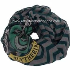 Harry Potter Slytherin Infinity Scarf Lightweight - Officially Licensed by Warner Bros. - Size - Fits Adults, Teens, and Children