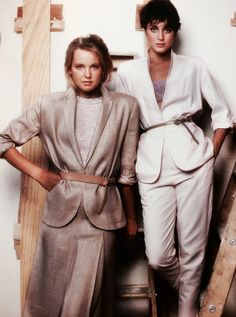 Perry Ellis Spring/Summer 1979 photo by Barbara Bordnick @ The Perry Ellis (still unfinished at the time) Showroom.