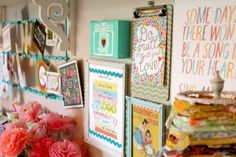 Raising up Rubies - gorgeous organized displays in her fantastic craft space @Jaime ♥ Raising up Rubies @NorCottage