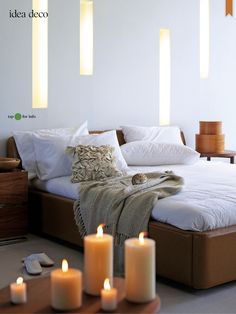 Simple and textured. Restful in a modern setting