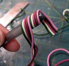 Kael Mijoy: Polymer Clay Tutorial: Striped Pen
