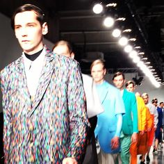 Colourful cacophony at Agi  Sam #LCM ORANGE, YELLOW, TEAL, AZURE