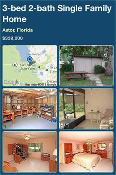 3-bed 2-bath Single Family Home in Astor, Florida ►$339,000 #PropertyForSale #RealEstate #Florida http://florida-magic.com/properties/1653-single-family-home-for-sale-in-astor-florida-with-3-bedroom-2-bathroom