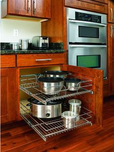 Glideware Pull Out Cabinet Organizer For Pots And Pans Pot Racks Pinterest Products Cabinet Organizers And Pots
