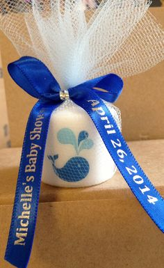 25 Baby Shower Favors, Only 1.50 Each, Candle Favors, Wedding Favors, Whale themed Favors, Baptism , Holy Communition Favors