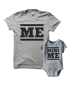 Look at this Gray 'Me' Tee & 'Mini Me' Bodysuit - Infant & Women on #zulily today!