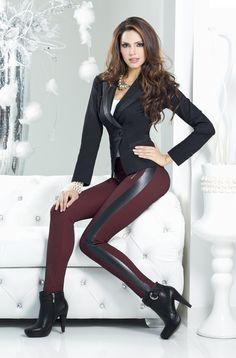 Fashion Wear, Fashion Pants, Womens Fashion, Stretch Satin, High Heel Boots, Leather Fashion, Lady, Style Me, Leather Pants