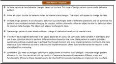 State Design pattern - Keypoints