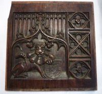 A Pair of 17th Century Antique Oak Blind Gothic Tracery Panels