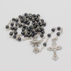 Classic Catholic First Communion Gift - Hematite Communion Rosary First Communion Gifts, Rosaries, Religious Gifts, Catholic, Boy Or Girl, Beads, Classic, Unique, Jewelry
