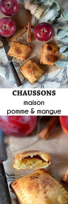 Chaussons aux pommes et mangues maison avec une pâte feuilletée maison en version facile et rapide !