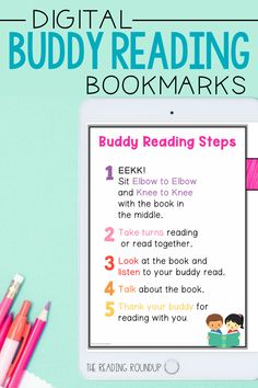 Is your Daily 5 Buddy Reading Center as effective as you'd like for it to be? These digital and printable reading buddies bookmarks are guaranteed to lead to more student engagement. Elementary students can practice decoding unknown words, answering comprehension questions, making connections, and retelling stories with these bookmarks. Reading response sheets are also available for additional accountability during literacy centers. A must-have for your reading workshop! Partner Reading, Reading Response, Student Reading, Reading Centers, Reading Workshop, Literacy Centers, Daily 5 Centers, Reading Bookmarks, Teacher Forms