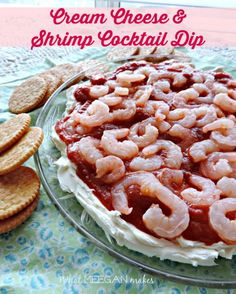 Cream Cheese and Shrimp Cocktail Dip - What Meegan Makes Cream Cheese and Shrimp Cocktail Dip is easy to make and ideal for any party, family get-together or game day. Shrimp Appetizers, Appetizer Dips, Appetizers For Party, Appetizer Recipes, Party Snacks, Dinner Recipes, Shrimp Cream Cheese Dip, Cream Cheese Recipes, Shrimp Dip