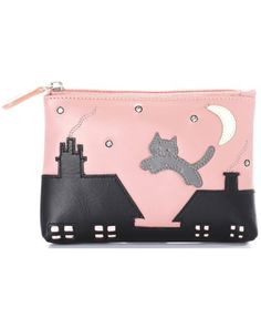 Ciccia Purse With Cat And Rooftops Design