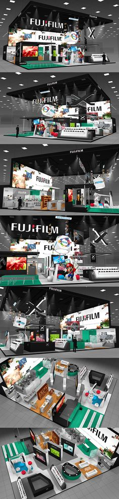 FUJIFILM exhibition stand on Behance