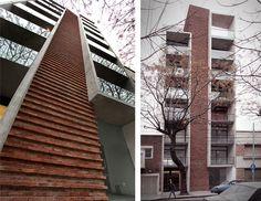 Arch Building, Building Facade, Building Design, Concept Architecture, Facade Architecture, Bungalow House Design, Brick Patterns, Exterior Design, Townhouse