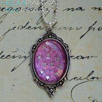 Pinkki glitteri tähtitaivas 20€