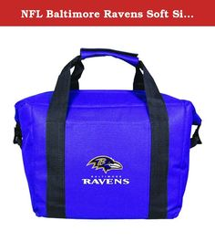 NFL Baltimore Ravens Soft Sided 12-Pack Cooler Bag. This officially licensed 12-pack cooler is perfect for sporting events, day trips, panics, etc. The cooler is soft-sided and folds for easy storage. The cooler has an easy grip handle and cleans up with a damp cloth.