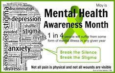 May is Mental Health Awareness month #advocacy #stigma #mentalhealth