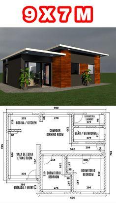 House Layout Plans, My House Plans, House Layouts, Village House Design, Bungalow House Design, Minimal House Design, Small House Design, Home Building Design, Home Design Plans