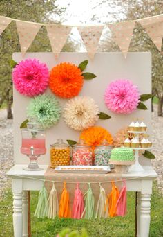 DIY Tissue Paper Flowers - DIY Paper Flower Backdrop
