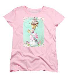 Marie Antoinette Women's T-Shirt (Standard Cut) featuring the digital art Marie Antoinette Let Them Eat Cake by Wendy Paula Patterson