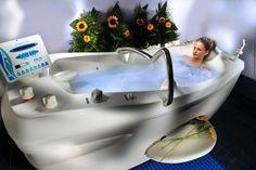 Bañera de Hidromasaje Niágara con agua de mar.