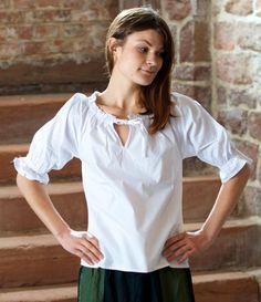 Bluse mit Kurzarm weiß | XXL