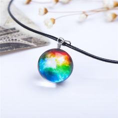 These fascinating galaxy space necklaces have double side pendant which makes it look like a crystal ball. Holding the necklace makes you feel like owning a miniature universe in the hand. Perfect gif
