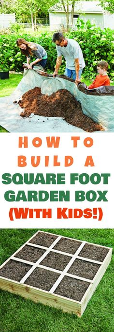 How to Build a Square Foot Garden Box - Easy Step By Step Directions!, foot garden for beginners How to Build a Square Foot Garden Box - Easy Step By Step Directions! Diy Gardening, Organic Gardening Tips, Gardening For Beginners, Container Gardening, Gardening Gloves, Gardening Supplies, Gardening With Kids, Gardening Scissors, Apartment Gardening