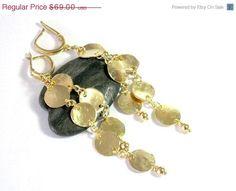 spring Sale Modern gold dangle earrings #gold #handmade https://www.etsy.com/listing/54355900/spring-sale-modern-gold-hammered?ref=shop_home_active_11…