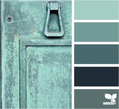 Color: Teal Tones by Design Seeds - light teal, medium teal, dark teal, midnight blue, slate blue.