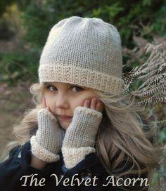 TRICOT PATTERN-The Lyla Hat/Mitt Set (bébé, enfant, taille adulte)