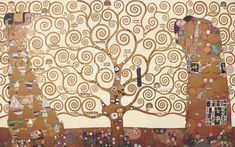 Scarlet Quince cross stitch chart: The Tree of Life - Gustav Klimt