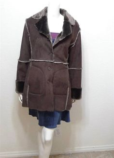 WOMEN MARKS & SPENCER faux fur coat size UK 12 USA 10 Medium #MarksSpencer #BasicCoat