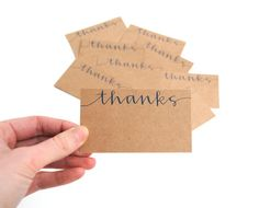 Thanks MiniNotecards  Handwritten Calligraphy by sparrownestscript, $15.00