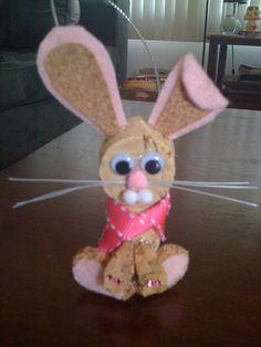 Bunny Ornament. $8.00, via Etsy.
