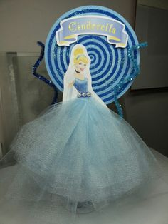 Centro de Mesa Cinderella / Cenicienta / Princesas - Party Princess