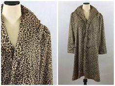 Leopard Print Coat  Vintage Velvet Animal by TheBirdcageVintage #vintage #etsy