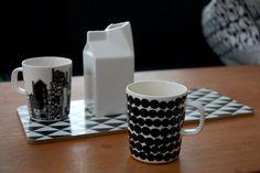 Via RareRina | Formverket Cutting Board | Seletti Milk Jug | Marimekko Mugs