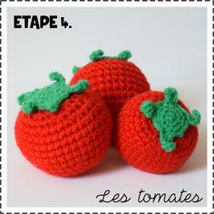 Tomate au crochet dinette