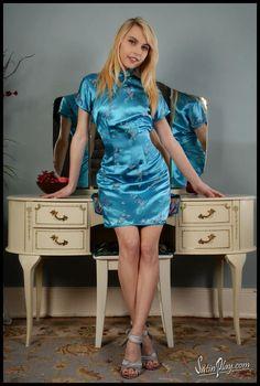 Ace's Angels Shop's media statistics and analytics Satin Skirt, Satin Dresses, Cheongsam Dress, Silky Dress, Porno, Lingerie, Satin Blouses, Stunning Dresses, Blouse Styles
