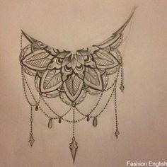 Back Of Thigh Tattoo, Back Of Leg Tattoos, Side Boob Tattoo, Leg Tattoos Women, Sternum Tattoo, Lace Tattoo, Head Tattoos, Mandala Tattoo, Body Art Tattoos