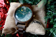 Dark Sandalwood and Emerald Watch Frankie Series http://www.woodwatches.com/#mummyandthechunks