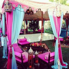 Tent decoration for mendhi/holud/wedding reception chill out area