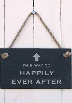 This way to happily ever after