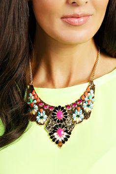 Suki Gem Trim Collar Necklace at boohoo.com