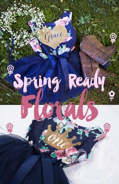 7f461b1fb52e Grace and Lucille florals make your toddler girl ready for Spring! First  Birthday Dresses,