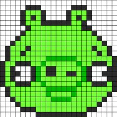 Angry Birds Pig Perler Bead Pattern | Bead Sprites | Characters Fuse Bead Patterns